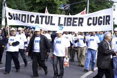 Protesta de la unión Fotos de archivo