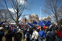 Protesta de la unión Fotografía de archivo libre de regalías