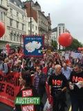 Protesta de Londres imagen de archivo libre de regalías