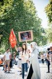 Protesta de los activistas de los derechos humanos de Uyghur Imágenes de archivo libres de regalías