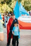 Protesta de los activistas de los derechos humanos de Uyghur Fotos de archivo