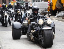 Protesta de los clubs de la motocicleta Oslo Imagenes de archivo
