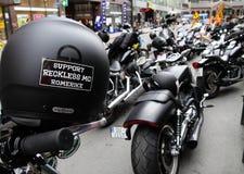 Protesta de los clubs de la motocicleta Oslo Imagen de archivo libre de regalías