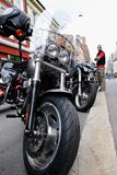 Protesta de los clubs de la motocicleta Oslo Foto de archivo libre de regalías