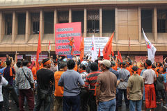 Protesta de los comerciantes Fotografía de archivo