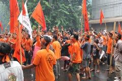 Protesta de los comerciantes Foto de archivo