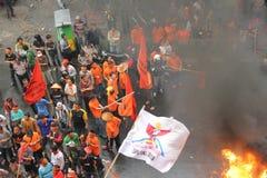 PROTESTA DE LOS COMERCIANTES Fotos de archivo