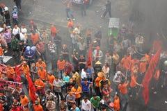 PROTESTA DE LOS COMERCIANTES Foto de archivo libre de regalías