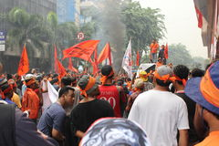 PROTESTA DE LOS COMERCIANTES Fotografía de archivo libre de regalías