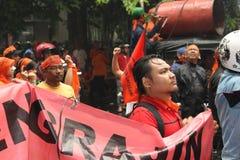 PROTESTA DE LOS COMERCIANTES Imagenes de archivo