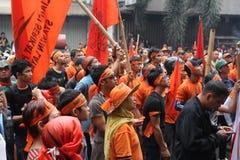 Protesta de los comerciantes contra la restauración de los departamentos Fotografía de archivo libre de regalías