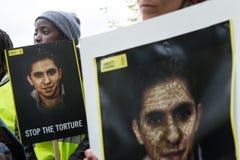 Protesta de los derechos humanos Fotografía de archivo