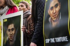 Protesta de los derechos humanos Imágenes de archivo libres de regalías