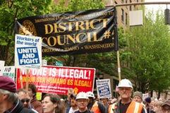 Protesta de los trabajadores Fotos de archivo libres de regalías