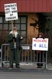 Protesta de presidente Obama imagenes de archivo