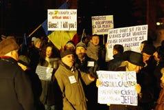 Protesta de Rumania imagenes de archivo