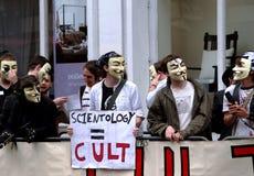 Protesta de Scientology Fotos de archivo