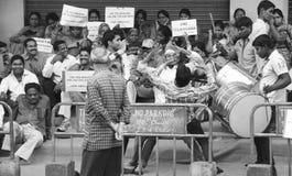 Protesta de Telangana Imagenes de archivo