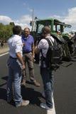 Protesta degli agricoltori Fotografia Stock Libera da Diritti