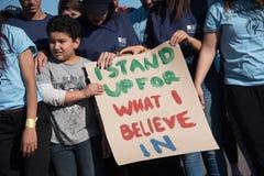 Protesta degli attivisti della gioventù Fotografia Stock
