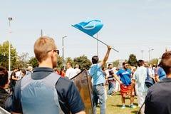 Protesta degli attivisti di diritti umani di Uyghur Fotografie Stock