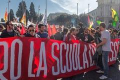 Protesta degli studenti nel quadrato Fotografia Stock