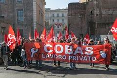 Protesta degli studenti nel quadrato Immagini Stock