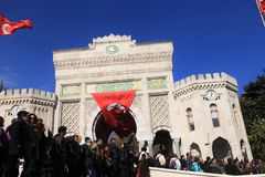 Protesta dei Academics in Turchia Fotografia Stock Libera da Diritti