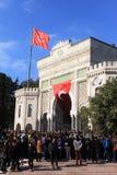 Protesta dei Academics in Turchia Fotografia Stock