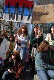 Protesta dei independens del Kosovo Fotografia Stock