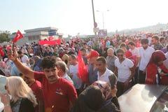 protesta del Anti-golpe en Turquía Imagen de archivo