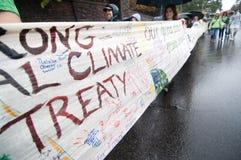Protesta del cambiamento di clima Fotografia Stock