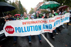 Protesta del cambiamento di clima Fotografie Stock Libere da Diritti