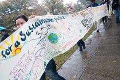Protesta del cambio de clima Imagen de archivo libre de regalías