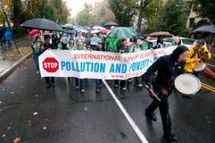 Protesta del cambio de clima Imágenes de archivo libres de regalías