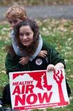 Protesta del cambio de clima Imagen de archivo