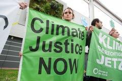 Protesta del clima foto de archivo