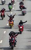 Protesta del combustibile Fotografia Stock