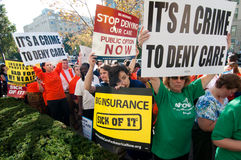 Protesta del cuidado médico Foto de archivo