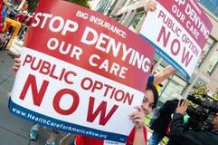 Protesta del cuidado médico Fotografía de archivo
