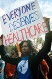 Protesta del cuidado médico Fotografía de archivo libre de regalías