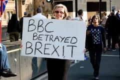 Protesta del día de Brexit en Londres fotografía de archivo libre de regalías