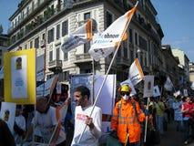 Protesta del día de la liberación en Milano, Italia, Imagen de archivo libre de regalías