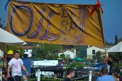 Protesta del derrame de petróleo Imagen de archivo