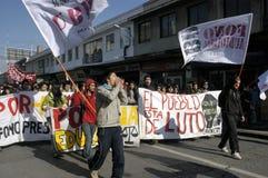 Protesta del estudiante en Chile imagen de archivo