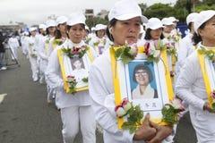 Protesta del Falun Gong Fotos de archivo libres de regalías
