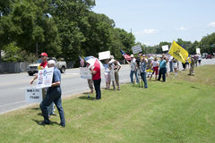 Protesta del IRS Fotografía de archivo libre de regalías