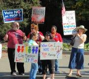 Protesta del matrimonio homosexual Imagen de archivo