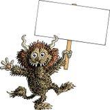 Protesta del monstruo Imágenes de archivo libres de regalías