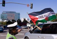 Protesta del palestino de Israel Foto de archivo libre de regalías